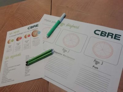 Team building aziendale per CBRE da Graniebraci Make your pizza storyboard