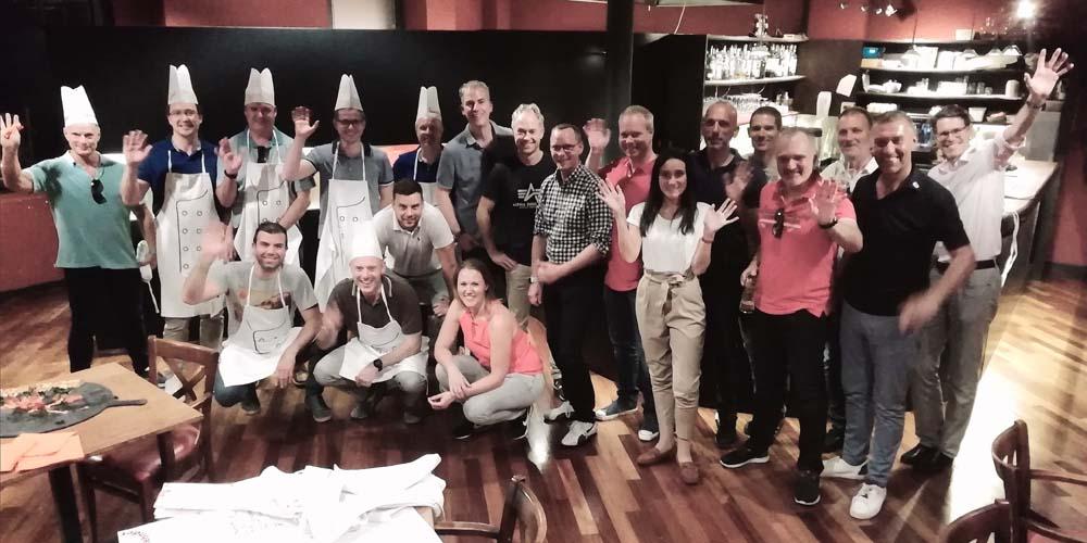 Team building make your pizza storyboard per Zehnder group al birrificio di como