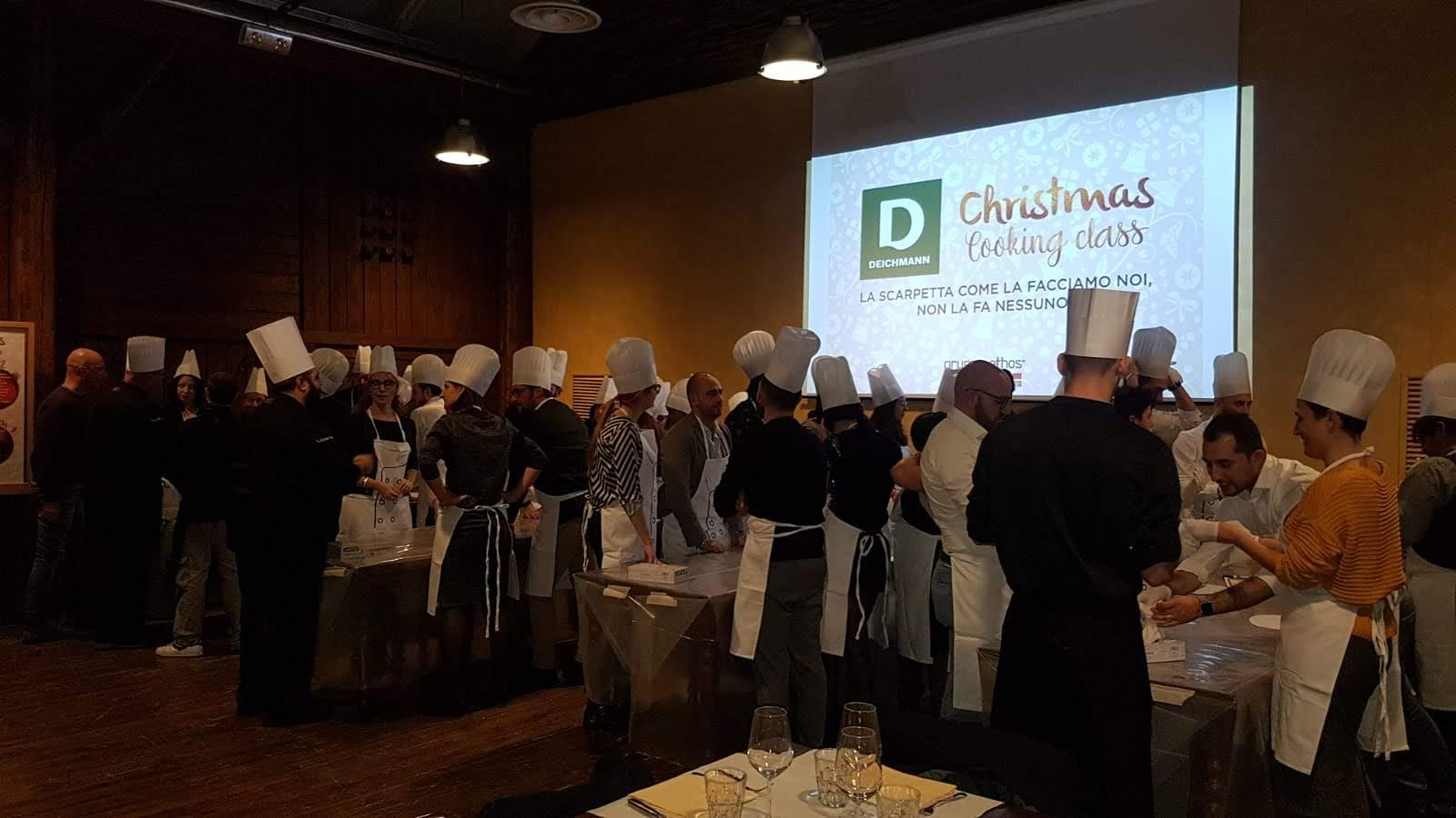 team building cook eat learn per deichmann acqua e farina